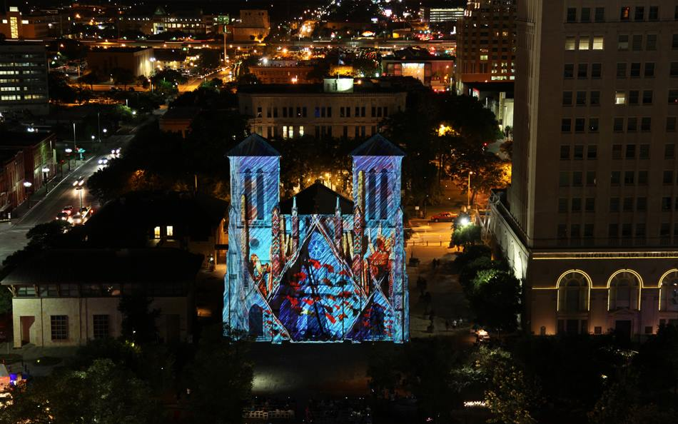 Main-Plaza-San Antonio The Saga-drone