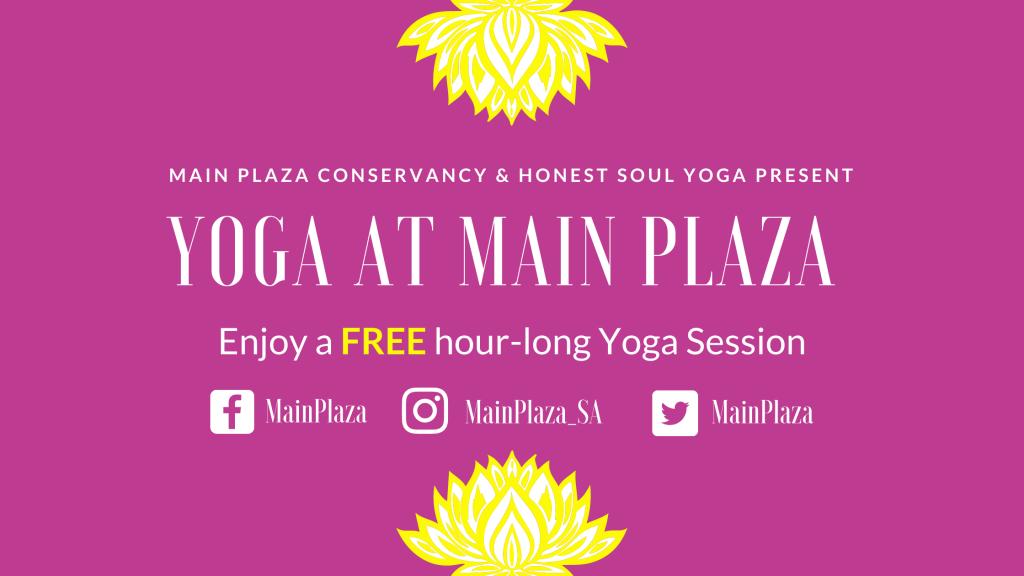 Yoga at Main Plaza blog poster
